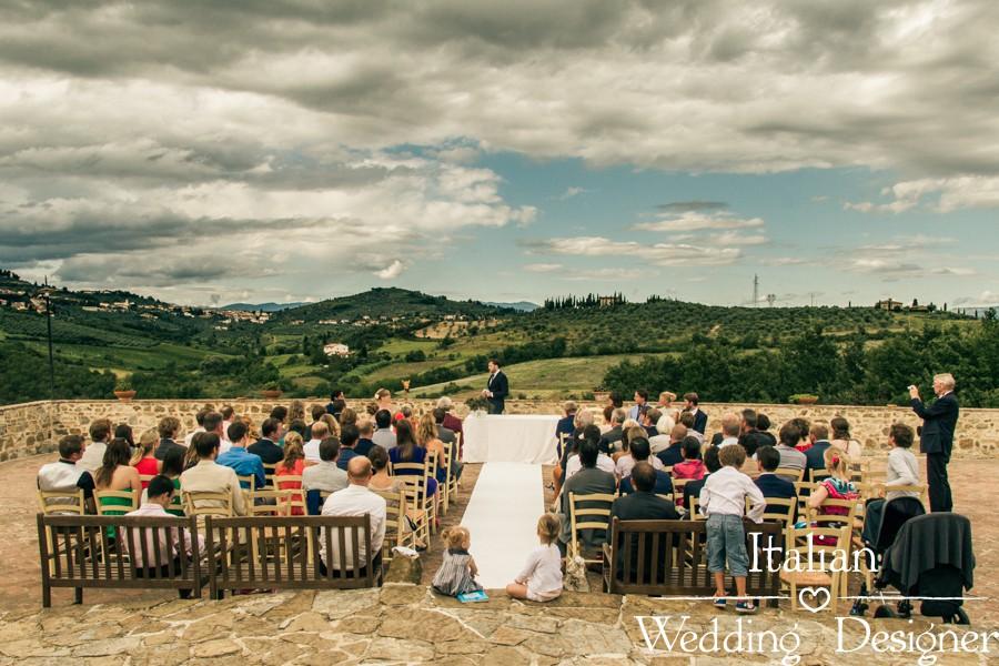 Symbolic Wedding Ceremony in farmhouse near Florence, Italy
