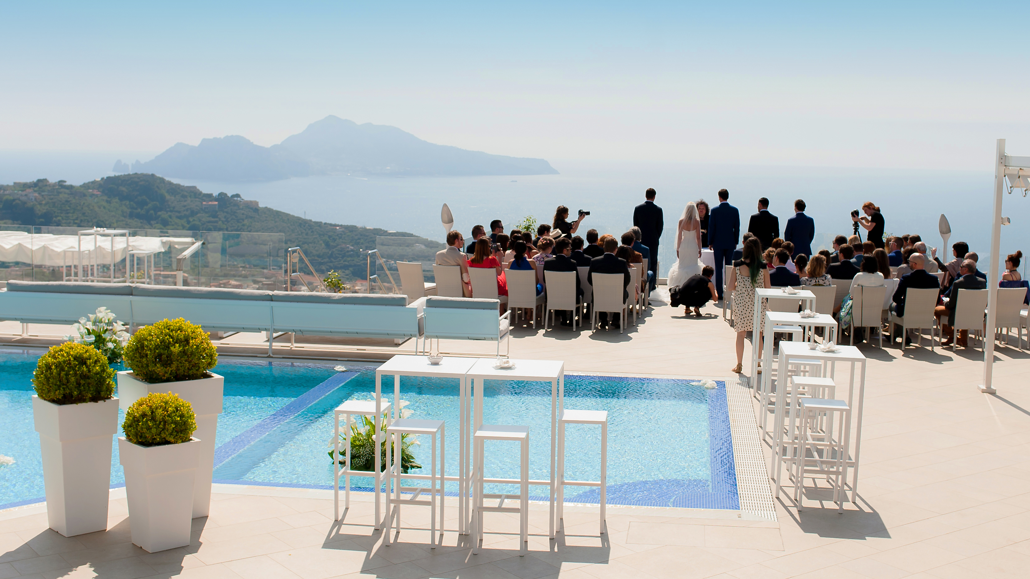 Wedding Ceremony with Amalfi Coast panorama