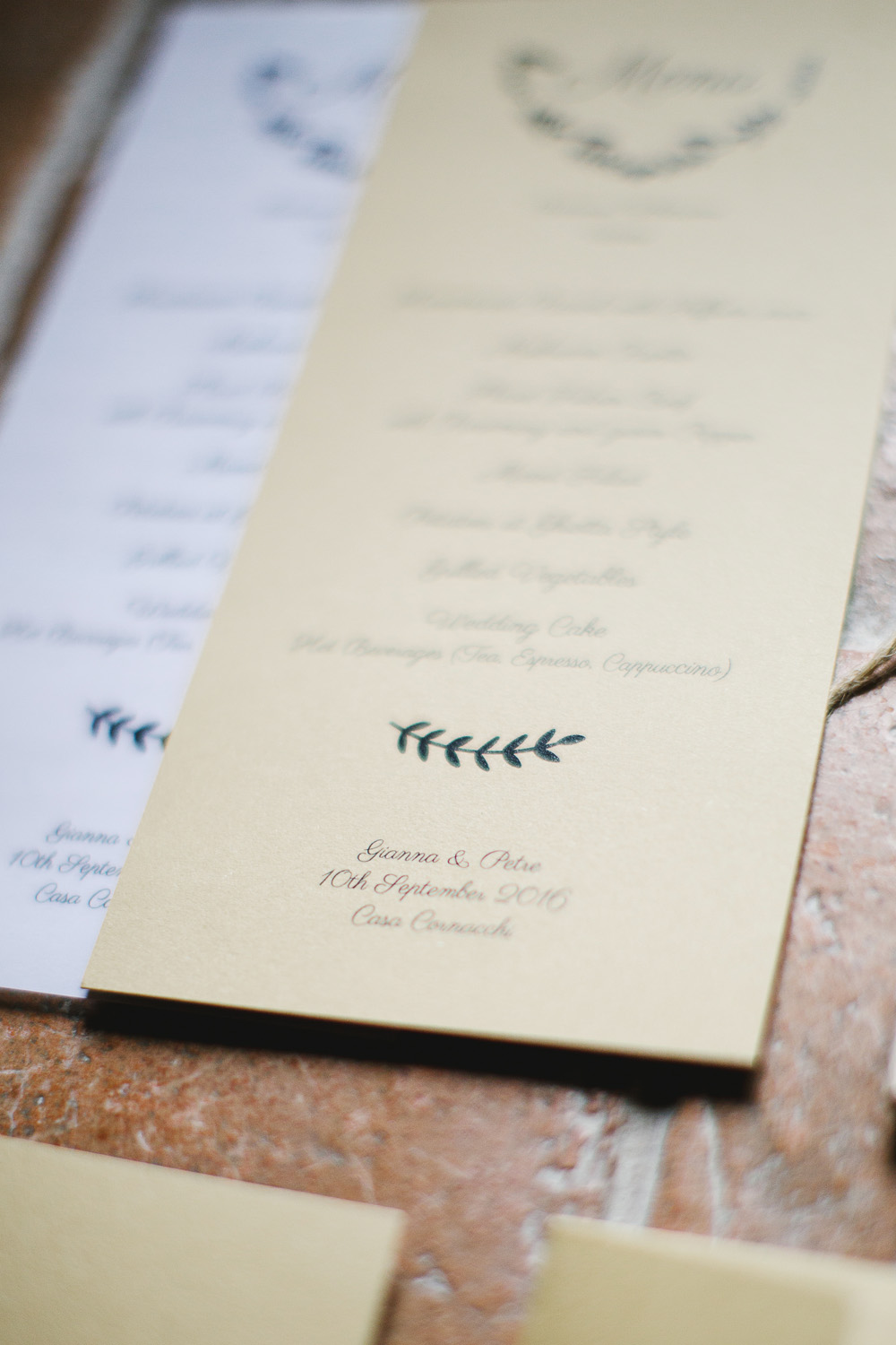 Wedding menu, Wedding in a Farmhouse in Tuscany - Italian Wedding Designer