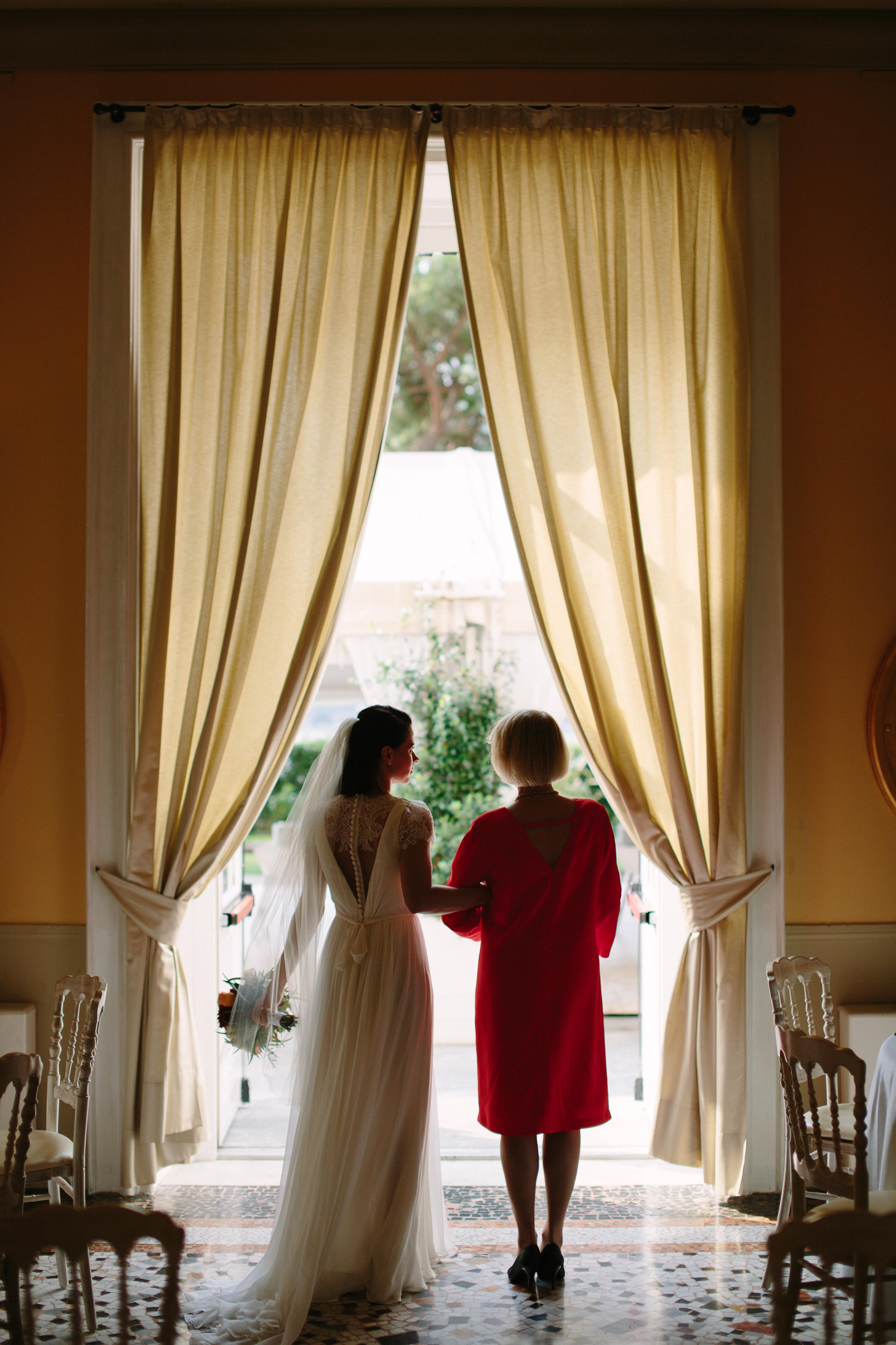Bride in venue, Ceremony in Lake Como by Italian Wedding Designer