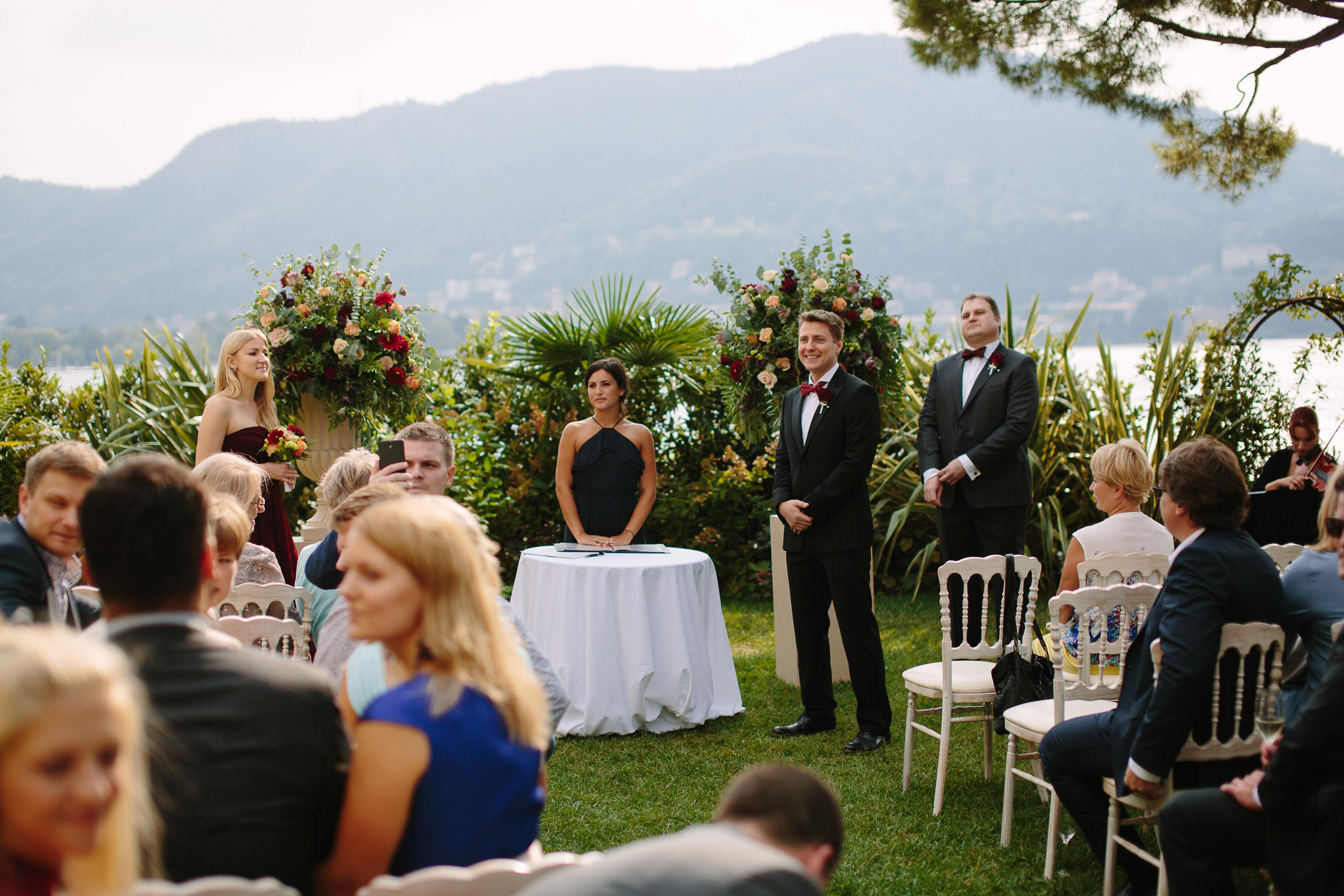 Ceremony in Lake Como by Italian Wedding Designer