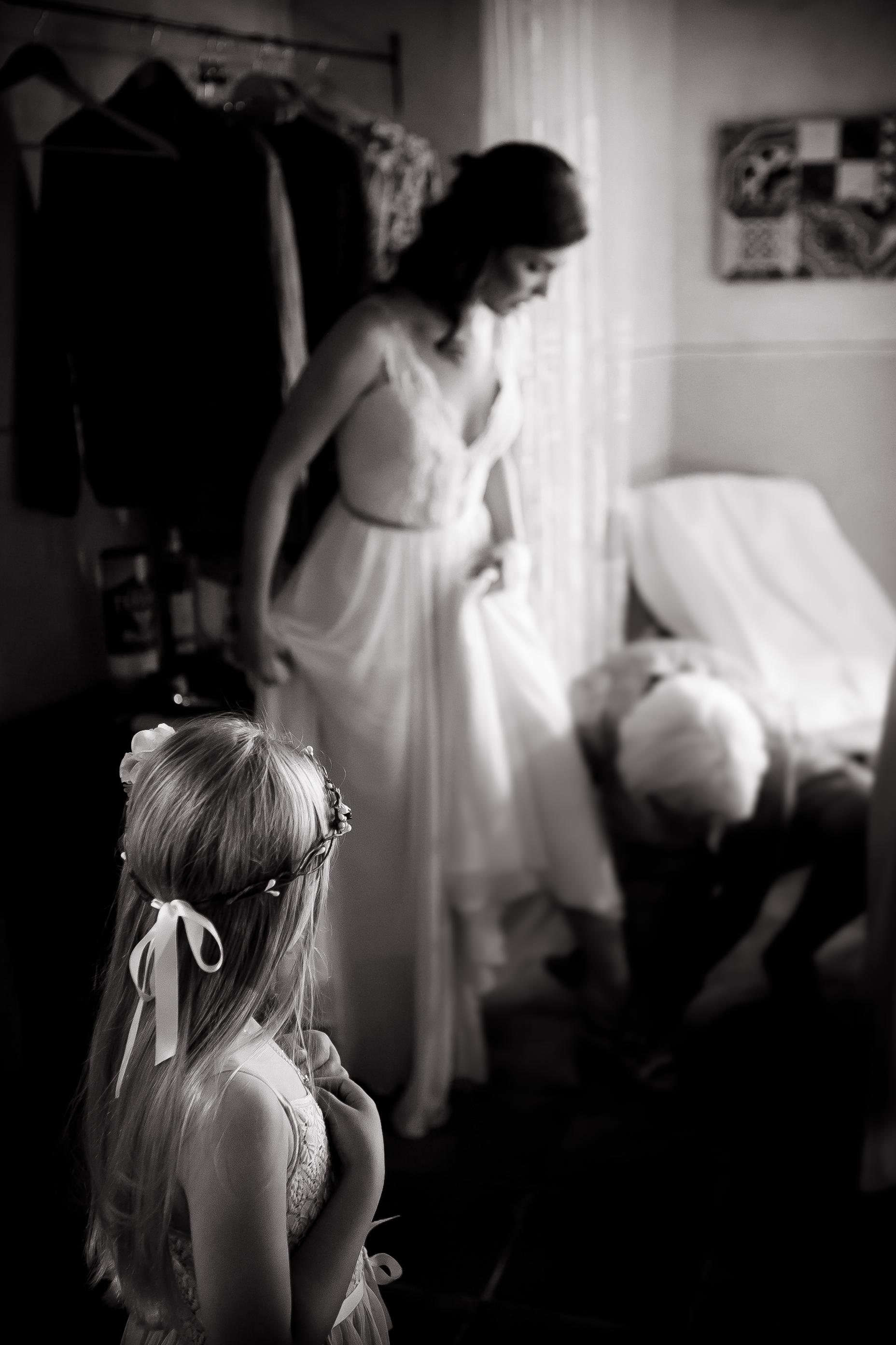 Bride in Tuscany wedding venue