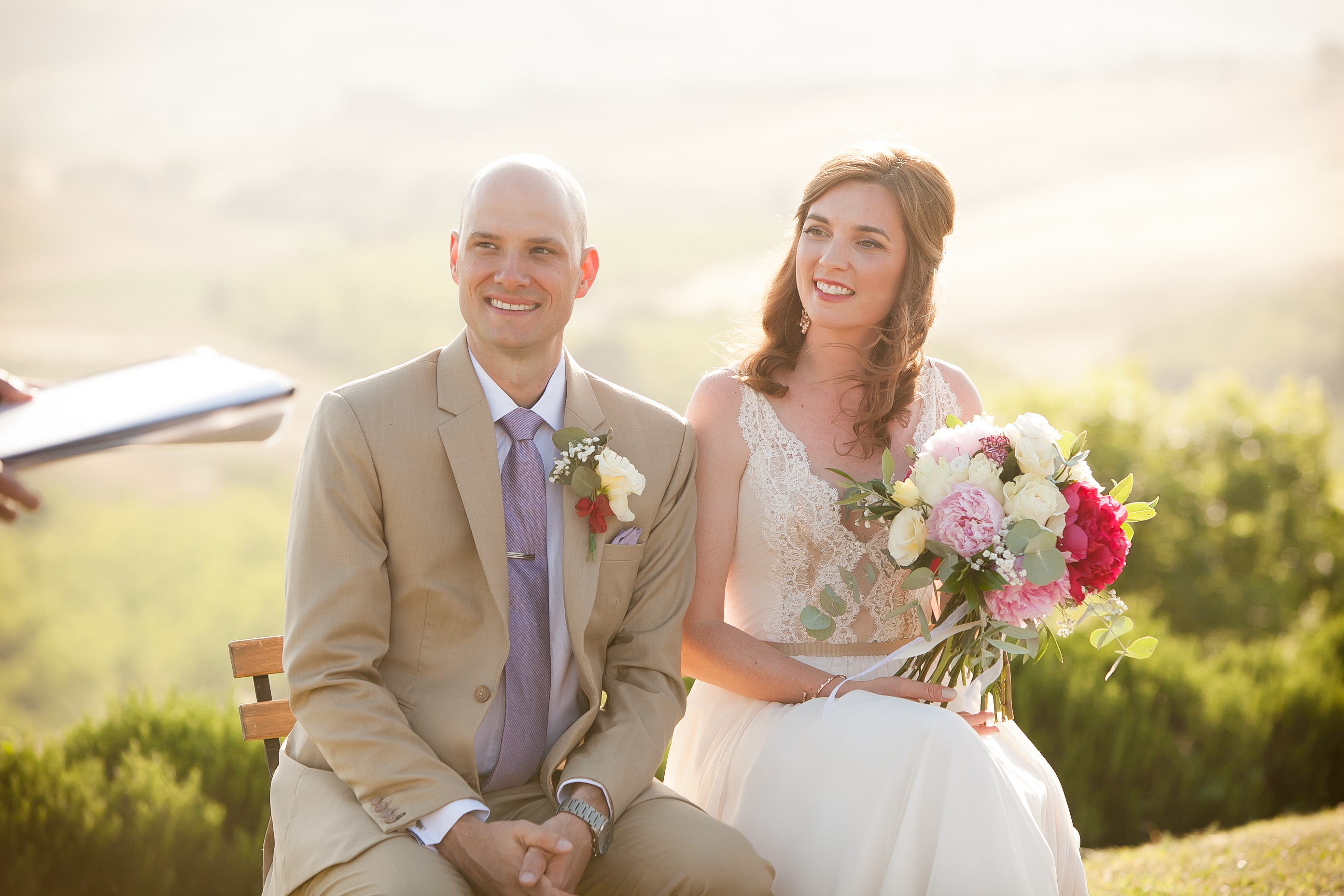Bride & Groom Photo - Countryside Wedding in Tuscany