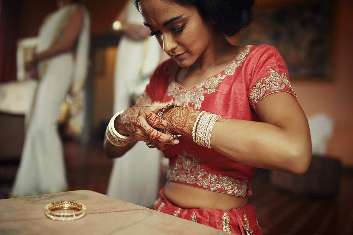 Indian Bride - Mehndi - Italian Wedding Designer