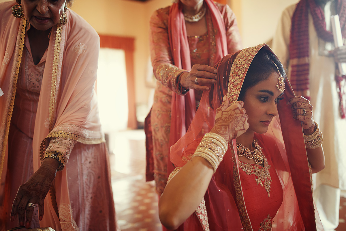 Indian Sikh Bridal Sari - Italian Wedding Designer
