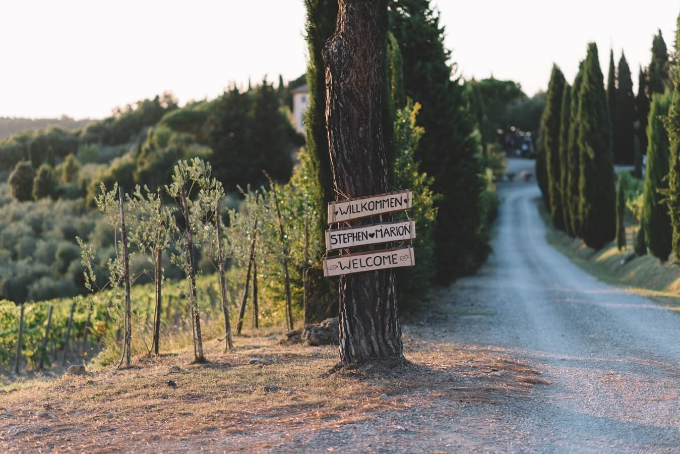 Destination wedding in Tuscany is perfect for wine lovers.