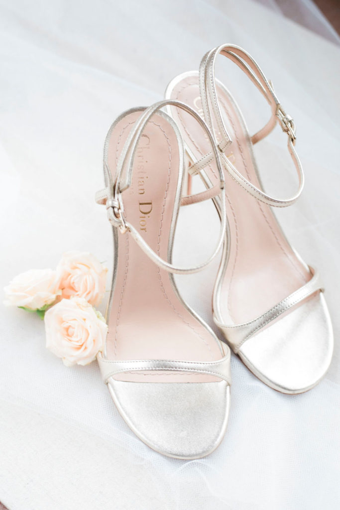 Bridal shoes Christian Dior - Wedding at Villa La Foce - Italian Wedding Designer