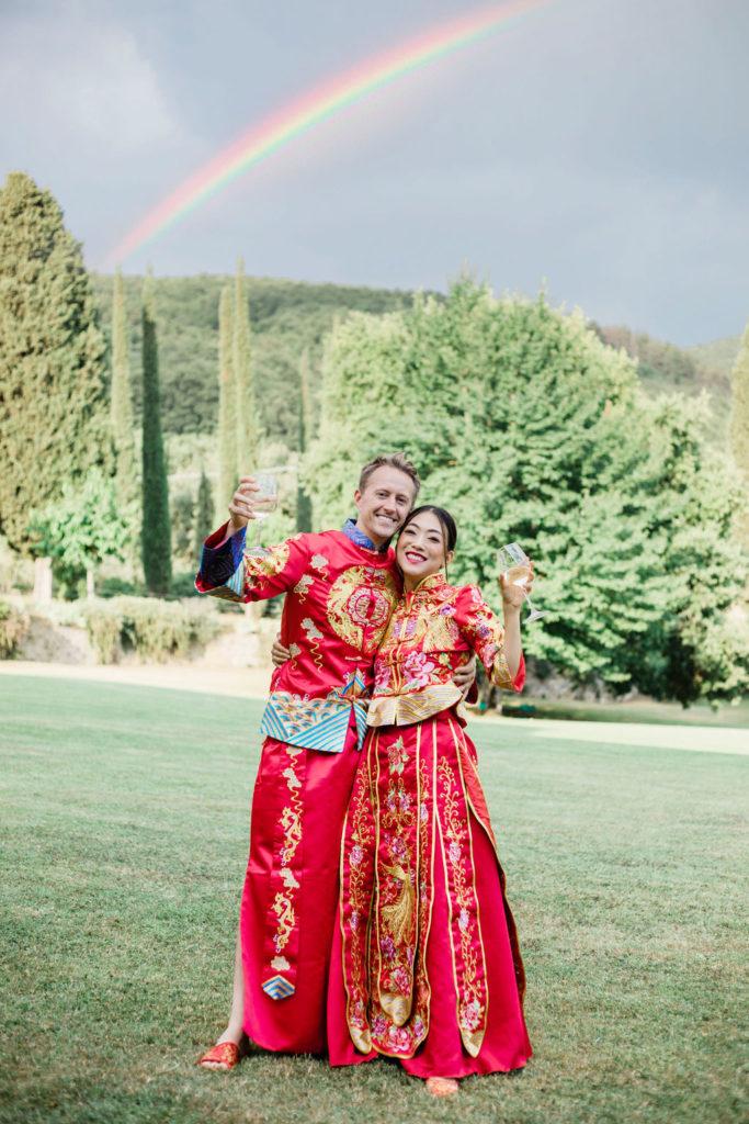 Wedding with rainbow - Chinese Tea Ceremony in Italy- Italian Wedding Designer