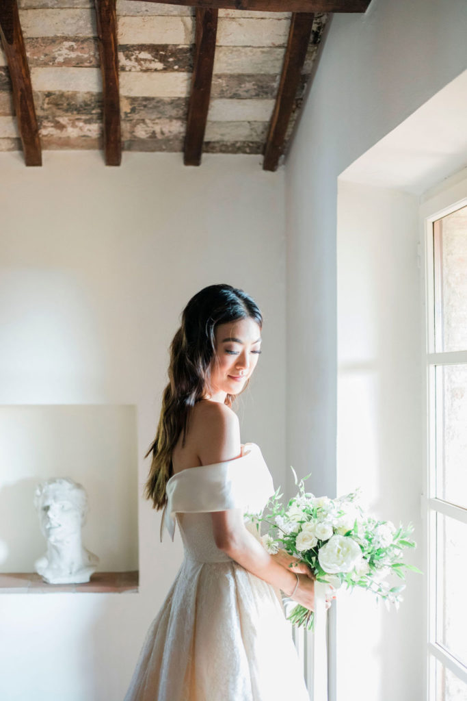 Bride Portrait - Wedding at Villa La Foce - Italian Wedding Designer