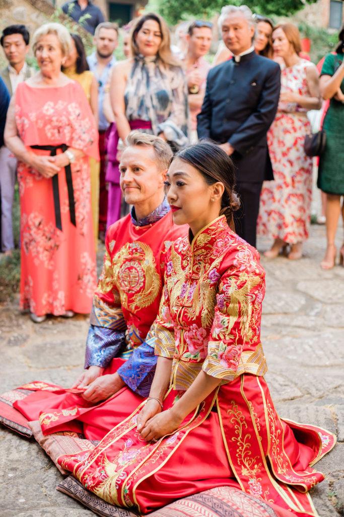 Tea Ceremony setting - Chinese Tea Ceremony in Italy- Italian Wedding Designer