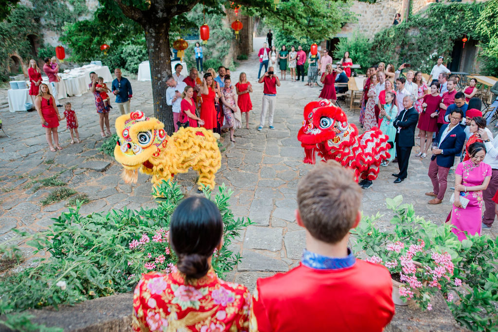 Dragon and Lion Dance - Chinese Tea Ceremony in Italy- Italian Wedding Designer