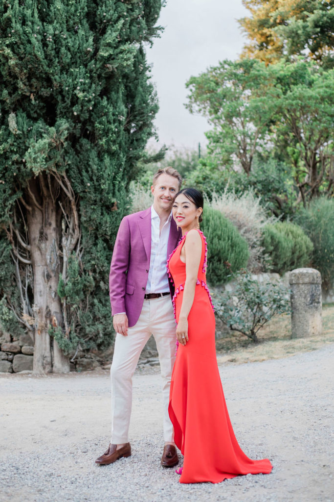 Bride and Groom second outfit - Chinese Tea Ceremony in Italy- Italian Wedding Designer