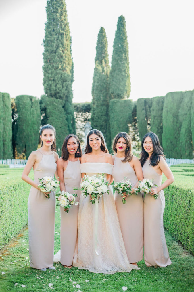 Bride & Bridesmaids photo - Wedding at Villa La Foce - Italian Wedding Designer