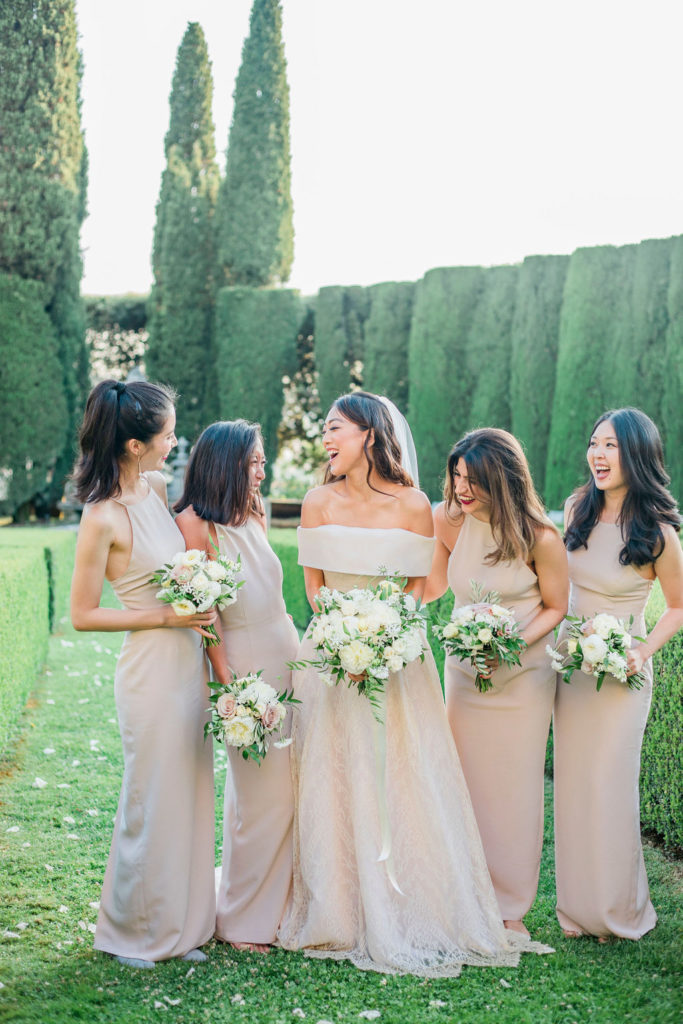Bride & Bridesmaids - Wedding at Villa La Foce - Italian Wedding Designer