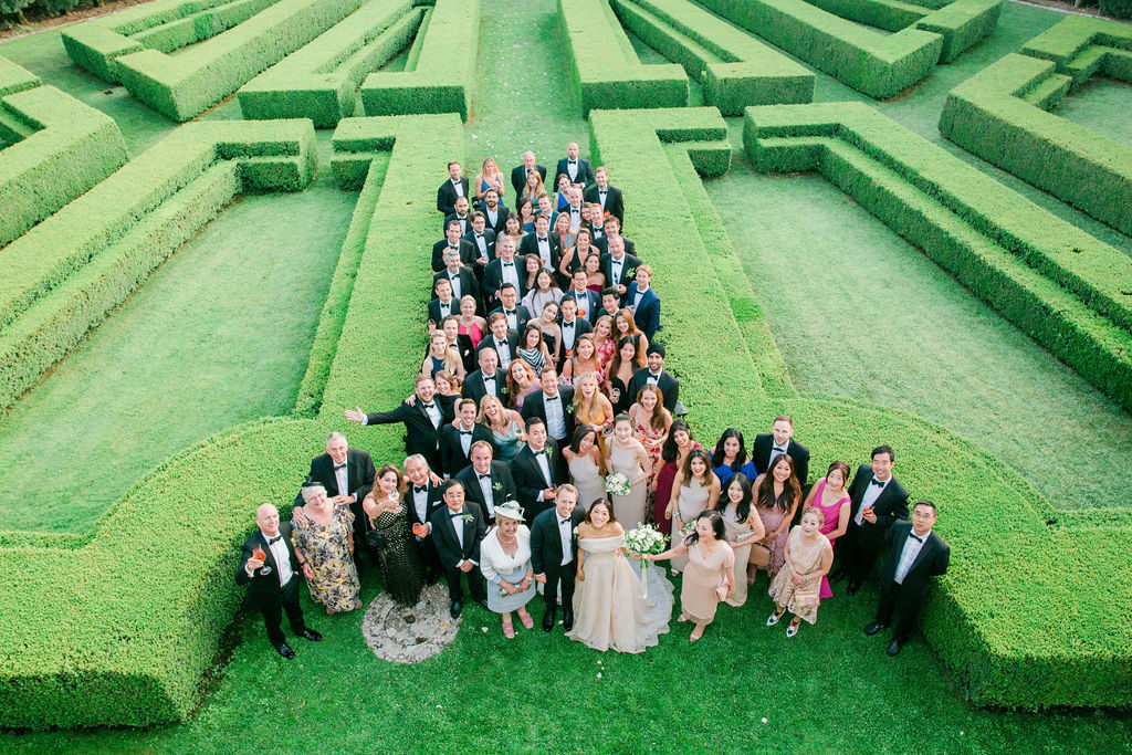 Group photo at la Foce - Wedding at Villa La Foce - Italian Wedding Designer