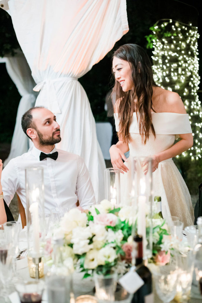 Bride and guests - Wedding at Villa La Foce - Italian Wedding Designer