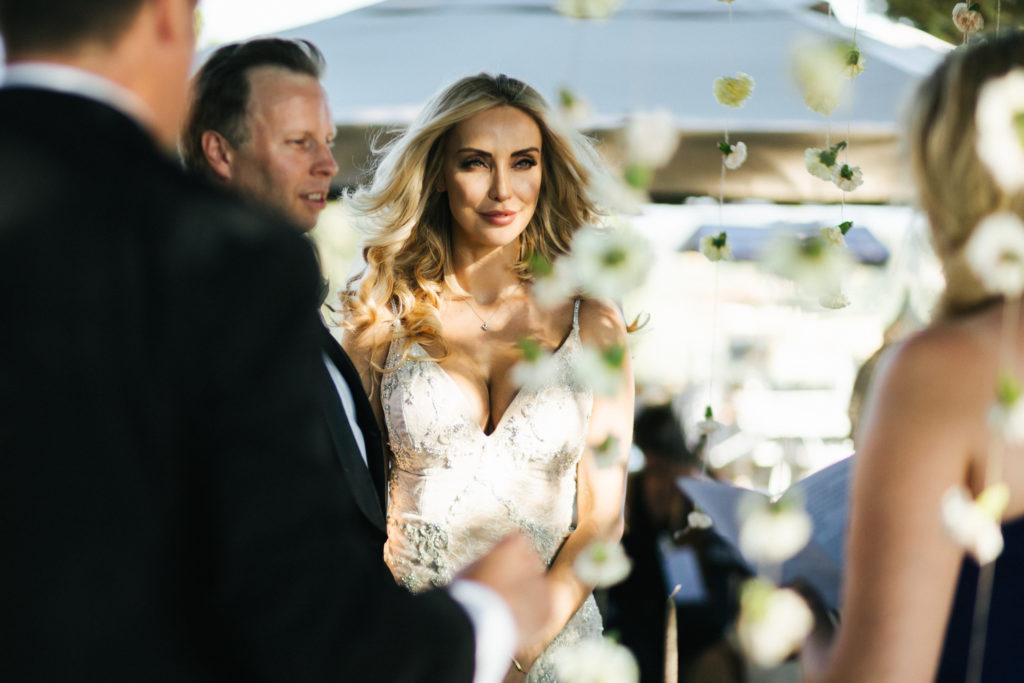 Bride portrait during ceremony - Wedding at Villa Le Fontanelle - Italian Wedding Designer