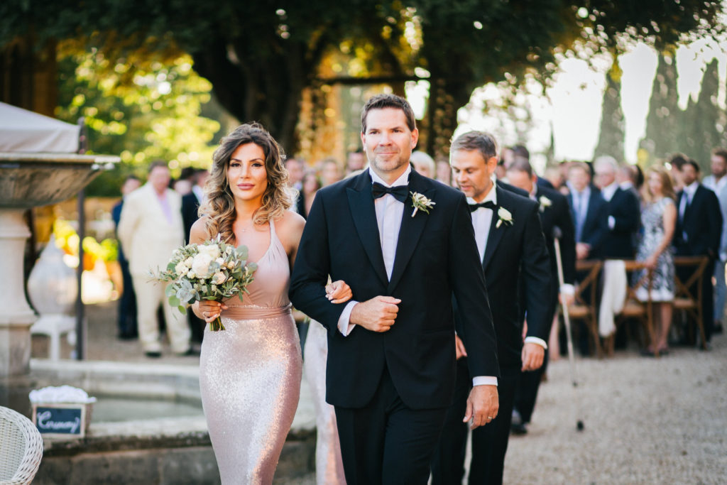 Wedding Party recessional - Wedding at Villa Le Fontanelle - Italian Wedding Designer