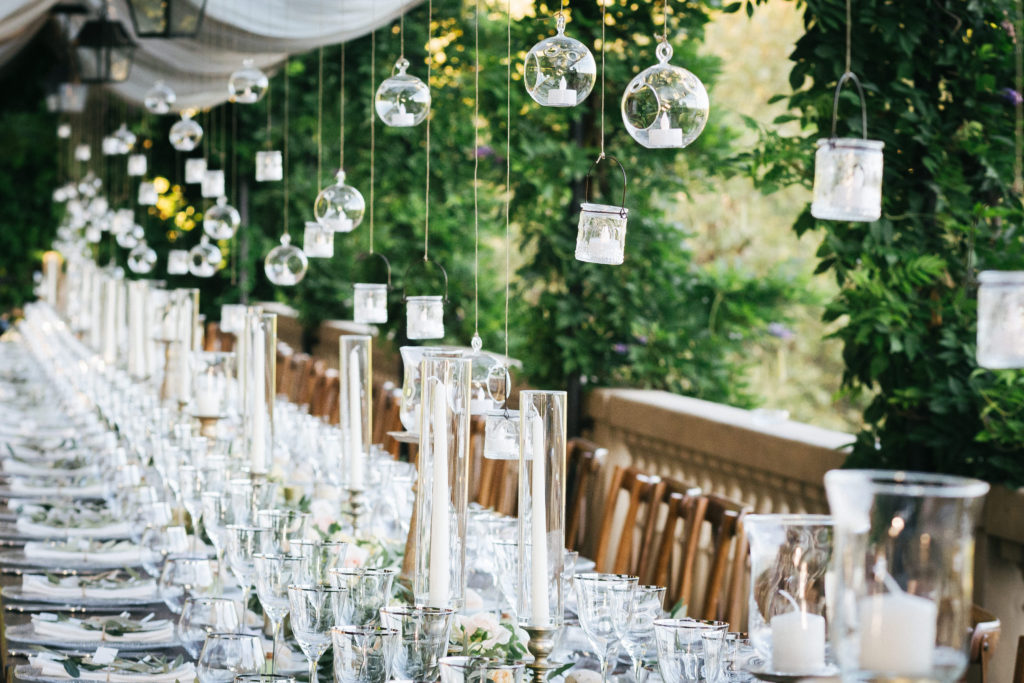 Hanging candles - Wedding at Villa Le Fontanelle - Italian Wedding Designer