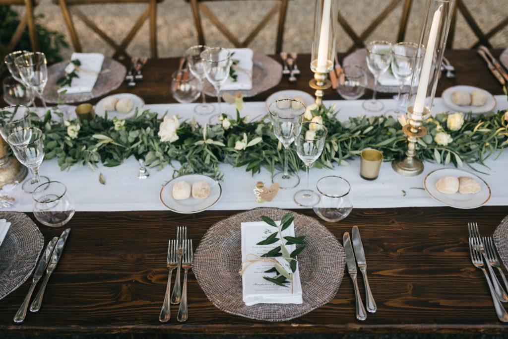 Floral Runner by Flowers Living - Wedding at Villa Le Fontanelle - Italian Wedding Designer