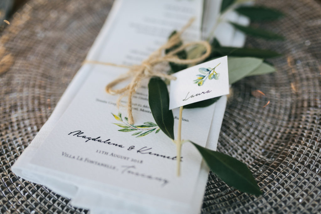 Menu by Italian Wedding Designer - Wedding at Villa Le Fontanelle