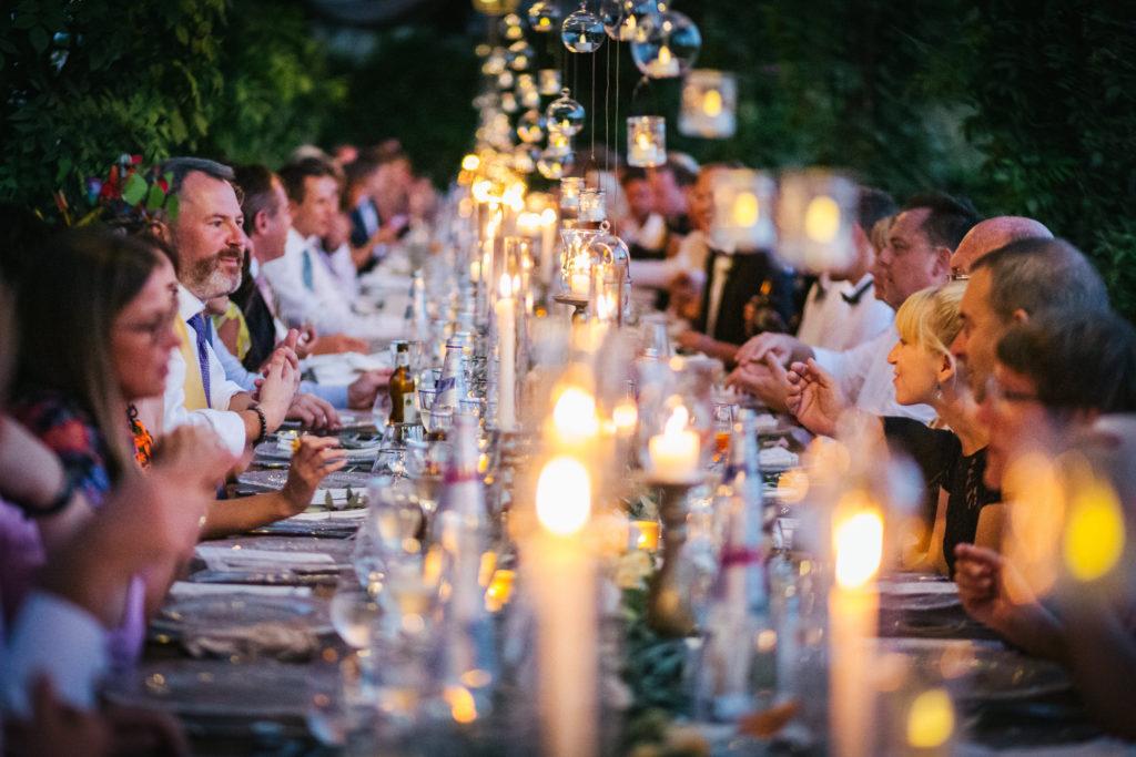 Dinner area - Italian Wedding Designer - Wedding at Villa Le Fontanelle