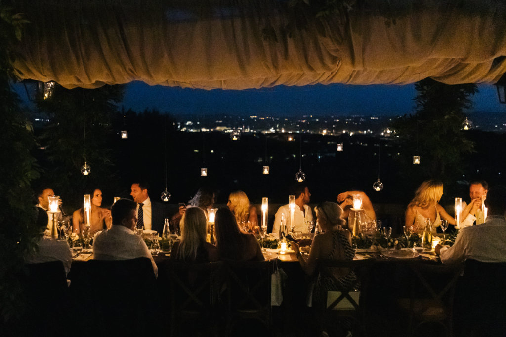 Candles wedding table - Italian Wedding Designer - Wedding at Villa Le Fontanelle