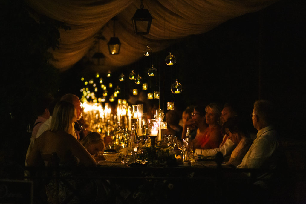 Lighting during dinner - Italian Wedding Designer - Wedding at Villa Le Fontanelle