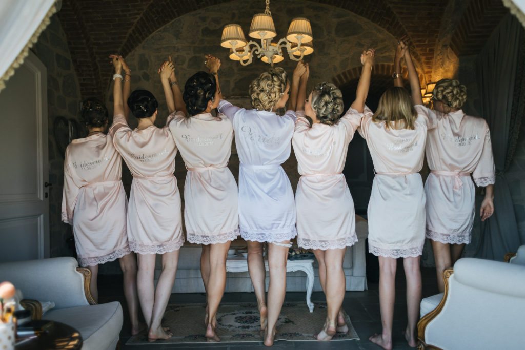 Bride & Bridesmaids - Wedding at Villa Le Fontanelle - Italian Wedding Designer