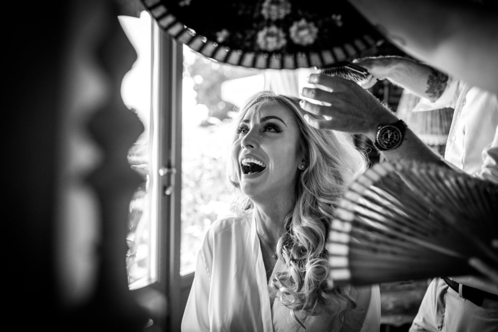 Bride b&w portrait - Wedding at Villa Le Fontanelle - Italian Wedding Designer