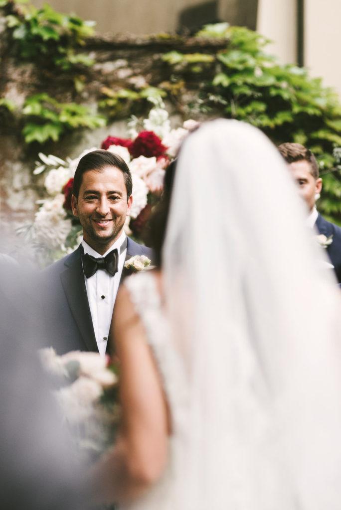First Look - Wedding at Villa La Selva - Italian Wedding Designer