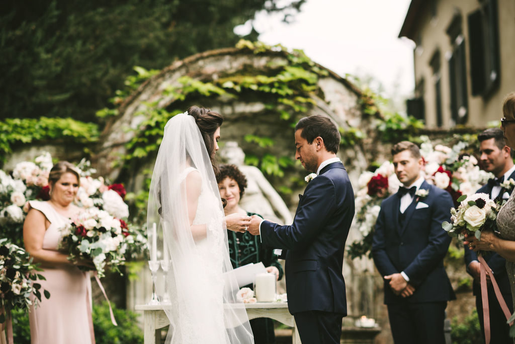 Outdoor Ceremony - Wedding at Villa La Selva - Italian Wedding Designer