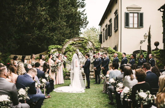 Ceremony setting - Wedding at Villa La Selva - Italian Wedding Designer