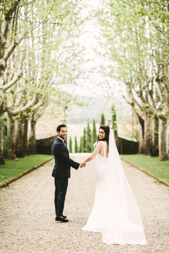 Bride & Groom portrait - Wedding at Villa La Selva - Italian Wedding Designer