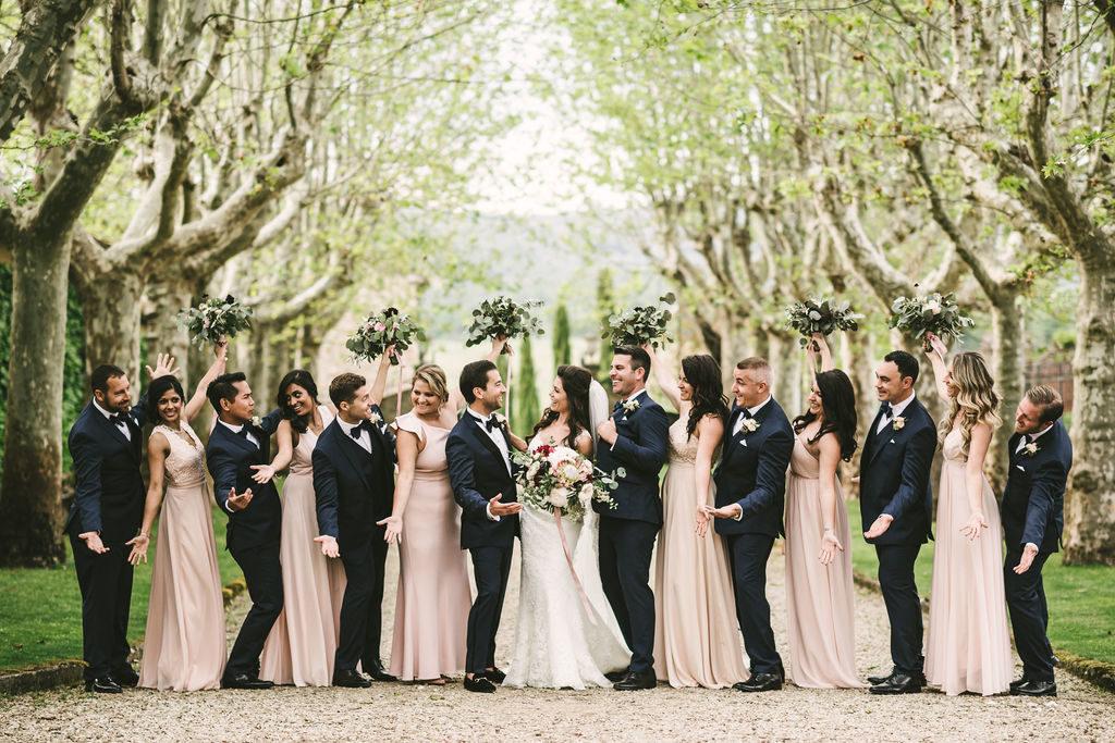 Bridal Party in Tuscany - Wedding at Villa La Selva - Italian Wedding Designer
