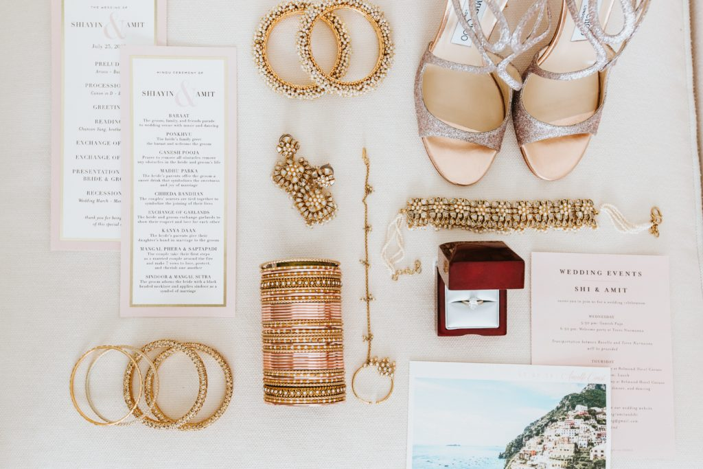 Stationary and wedding jewels - Hindu wedding at Hotel Caruso in Ravello - Italian Wedding Designer