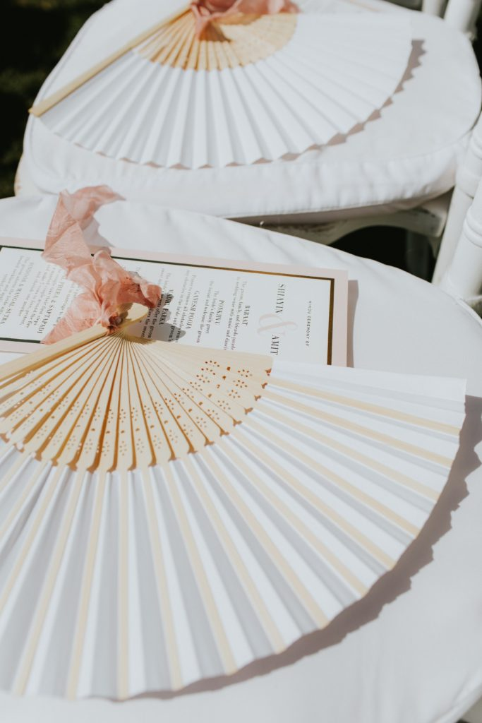 Fans - Hindu wedding at Hotel Caruso in Ravello - Italian Wedding Designer