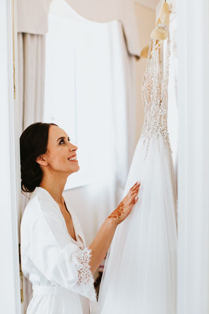 Bride getting Ready - Hotel Caruso Wedding - Italian Wedding Designer