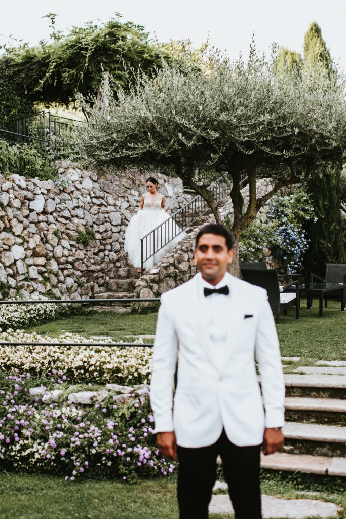 First Look Hotel Caruso Wedding - Italian Wedding Designer