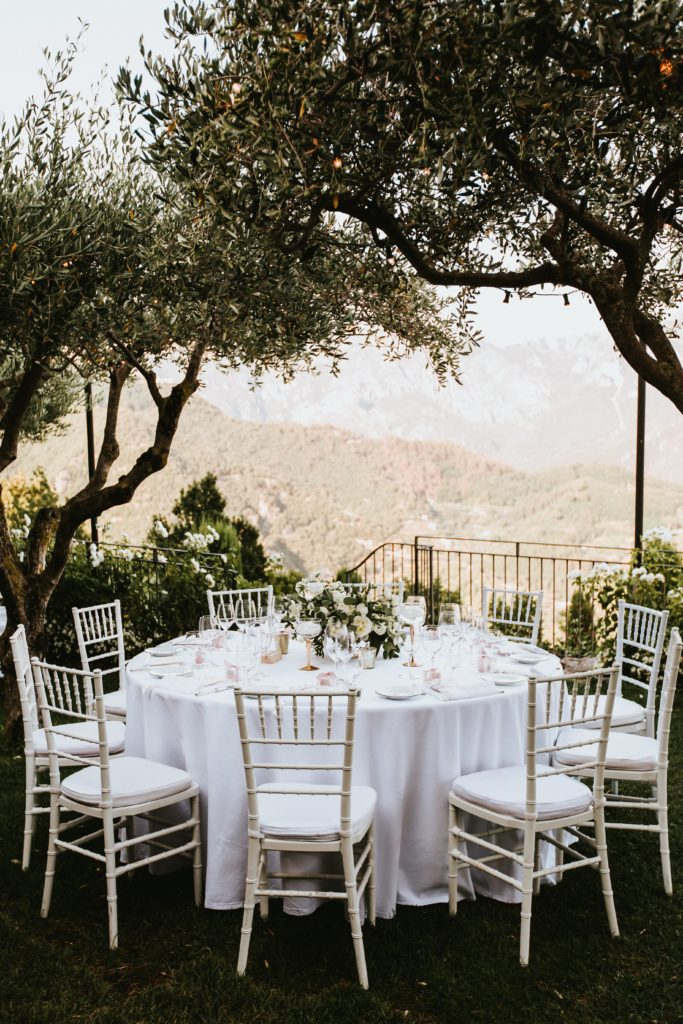 Table setting -Hotel Caruso Wedding - Italian Wedding Designer