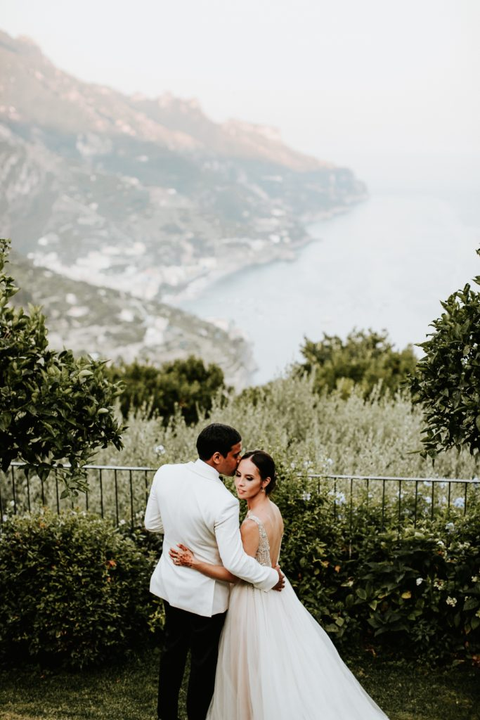 Couple Portrait - Hotel Caruso Wedding - Italian Wedding Designer