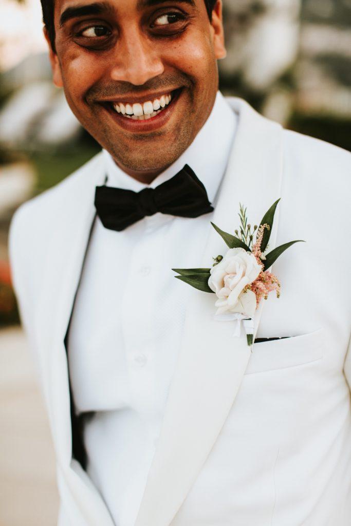 Groom Portrait Hotel Caruso Wedding - Italian Wedding Designer