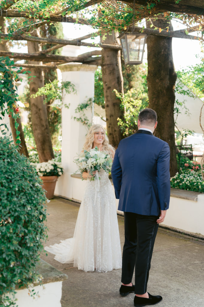 First look - Destination Wedding in Ravello - Italian Wedding Designer