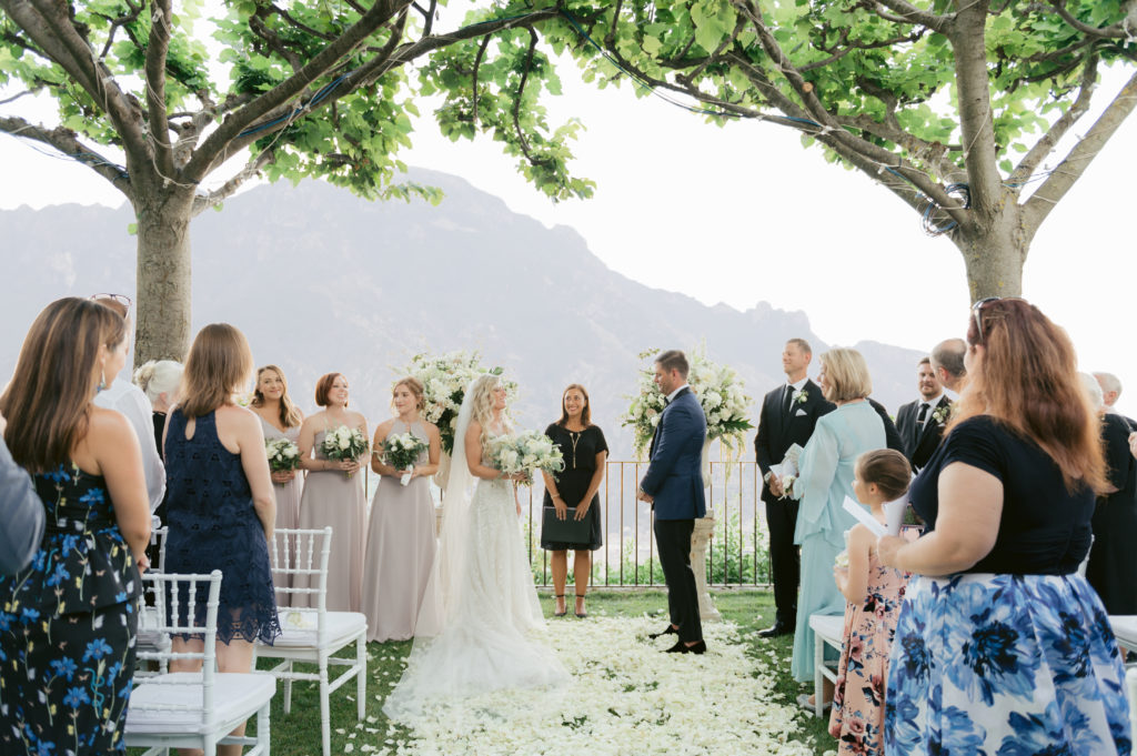 Ceremony at Villa Eva - Destination Wedding in Ravello - Italian Wedding Designer
