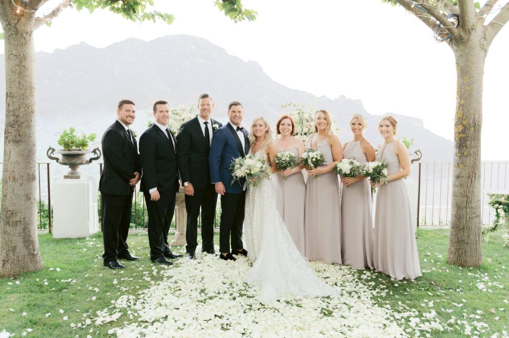 Wedding party portrait - Destination Wedding in Ravello - Italian Wedding Designer