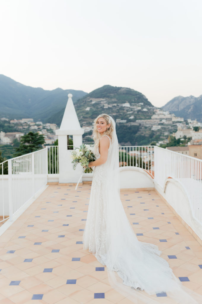 Bride in Ravello - Destination Wedding in Ravello - Italian Wedding Designer
