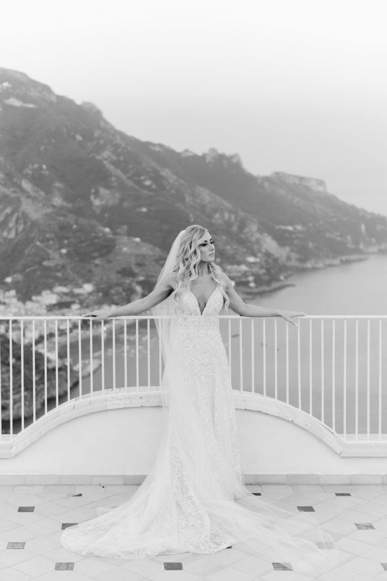 Bride at Villa Eva - Destination Wedding in Ravello - Italian Wedding Designer