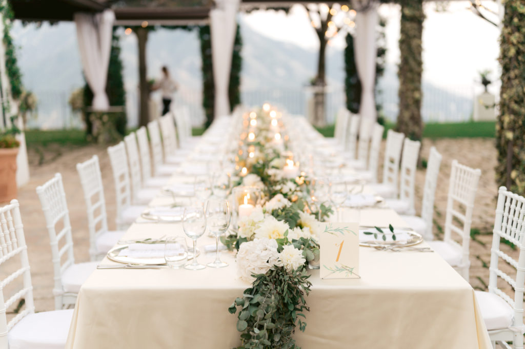 Villa Eva dinner - Destination Wedding in Ravello - Italian Wedding Designer
