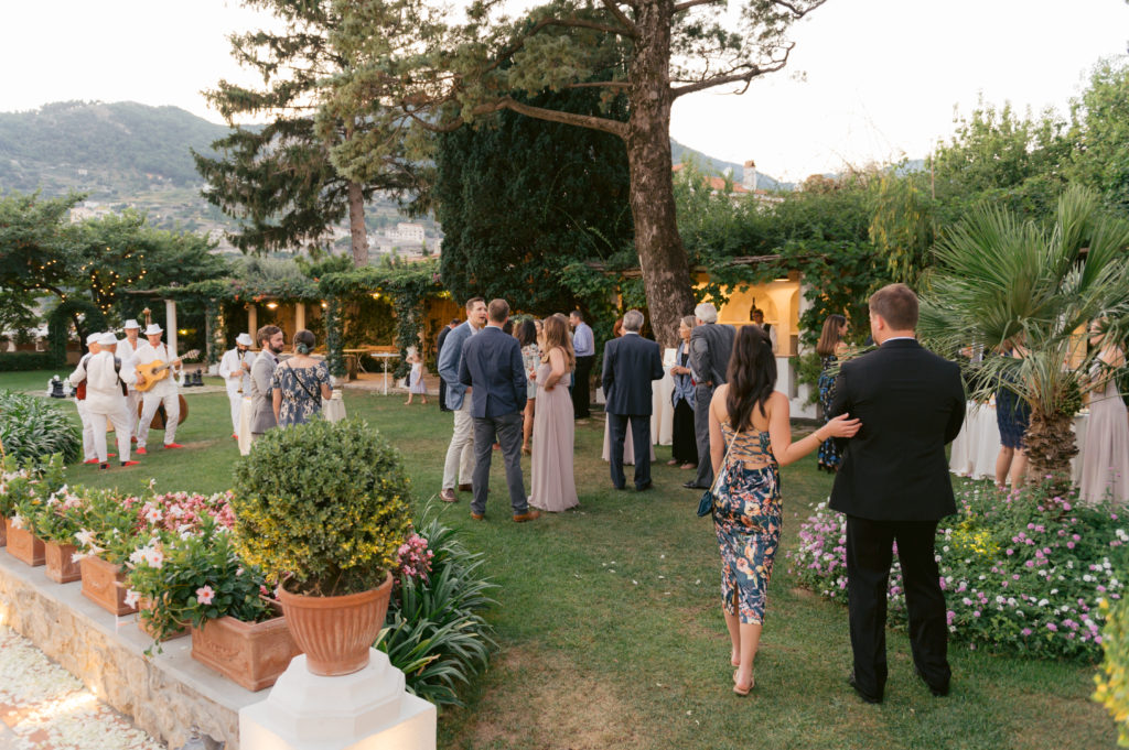 Aperitif at Villa Eva - Destination Wedding in Ravello - Italian Wedding Designer