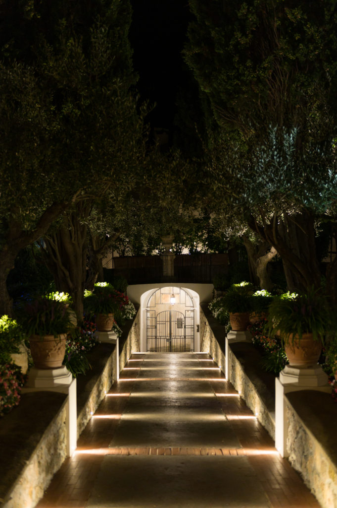Villa Eva entrance at night - Destination Wedding in Ravello - Italian Wedding Designer